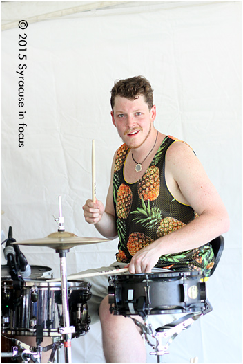 Greg of Formula 5 didnt' play at all like they were anxious. They debuted at the Northeast Jazz & Wine Festival's Mardi Gras Pavillion on Friday.