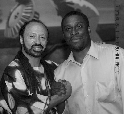 Musician Stephen Katriel Wise (left) and Urban Solution Group Founder Sean Herring at the Ohm Lounge about a decade ago.