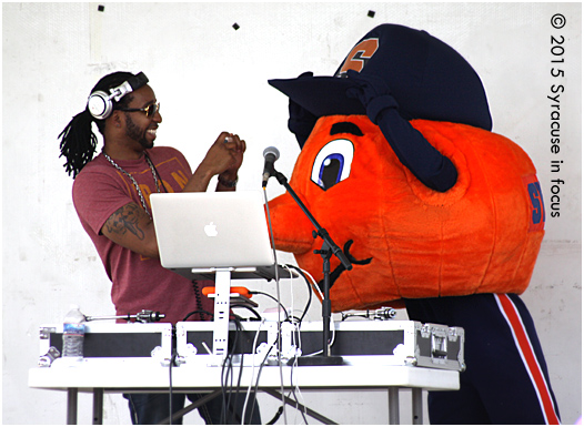 He's the Mascot, I'm the DJ