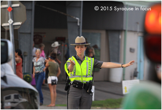 Shout out to the State Troopers keeping traffic under control at the Fairgrounds each day.