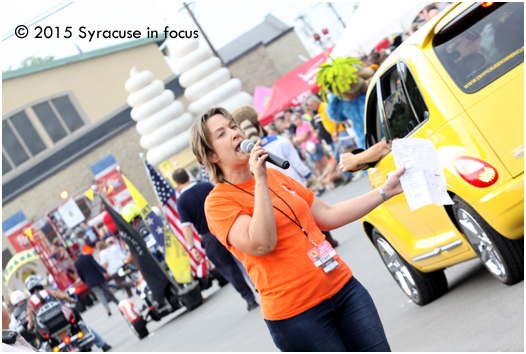93Q's Amy Robbins was the emcee for the abbreviated version of the New York State Fair Daily Parade on Saturday.