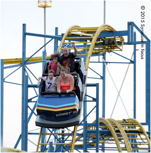 Riding the Comet Roller Coaster