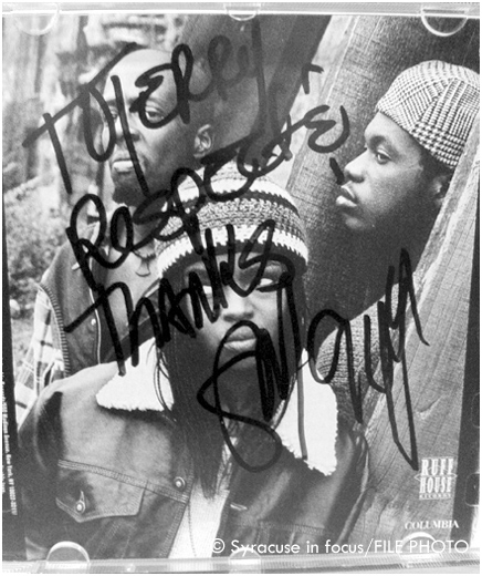 How can we forget meeting the Fugees when they came to Syracuse to promote their first album more than 20 years ago. They did an appearance at Cole's Music World. Shout out to Kenny Dees for the introduction.