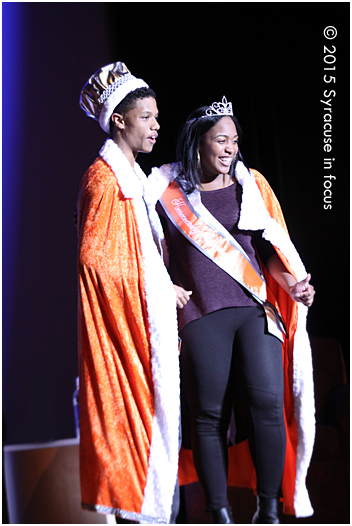 King and Queen: Kavell Brown and Nina Rodgers shortly after being crowned this evening.