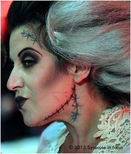 Photographer and model Tere Marie as the Bride of Frankenstein