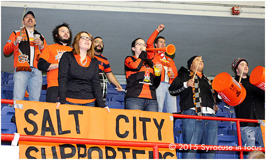 We challenge you to find more rowdy and passionate fans than we saw at the Silver Knights home opener last night. Hopefully, their commitment is also intense.