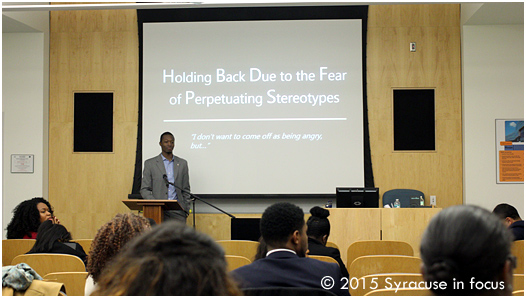 Ibrahim Lawton gave strageties to prevent and resolve micro-aggressions and cultural insensitivity in majority spaces during a workshop at the Blacktivism Conference on Saturday.