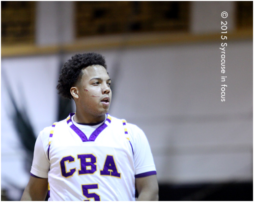 CBA senior point guard Nick Aversa suffered a scratch to the face during a heated second half run against Liverpool. The Brothers won 60-56.