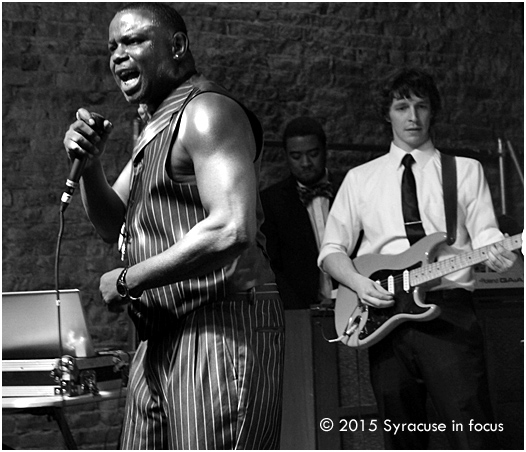 Gregory Collins, channels the Godfather of Soul at Funk & Waffles