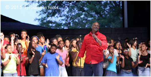 NYS Fair Gospel Choir, under the direction of Jason Barnes.