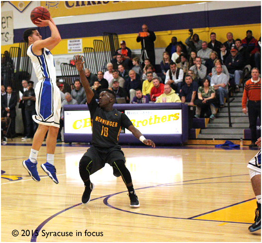 Ryan Roland of Westhill will look to fill it up from the three point line against CBA tonight.