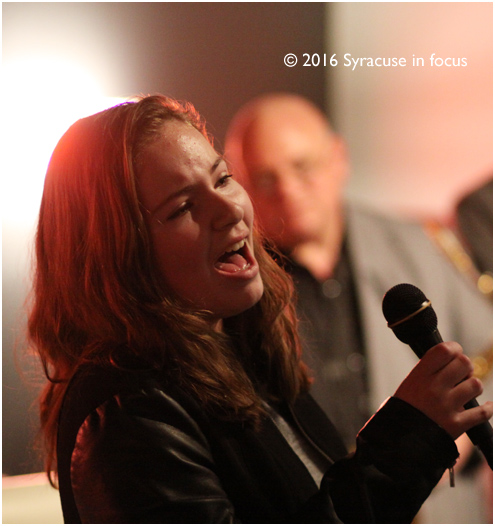 Ally Rexine, a student of vocalist Nancy Kelly, belted out a tune at the Sitrus Lounge on Friday.