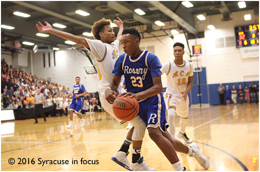Mika Adams-Woods (#23), aka the one man press-breaker, but on a shooting, dribbling and passing clinic to help hand CBA their first loss of the season.