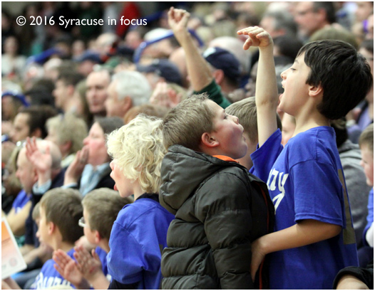 The Most Holy Rosary section, pulling for Ludden, celebrated an early first quarter run.