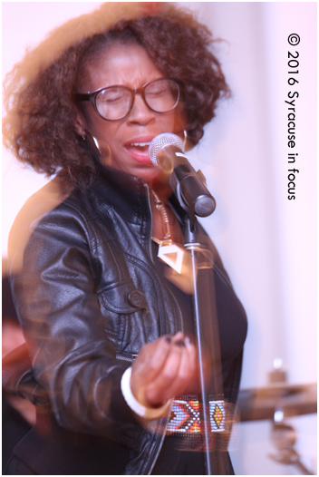 Tawanna Shaunte brought the heat from Jackson, MS for the Black History Month kick-off concert at the Community Folk Art Center (CFAC).