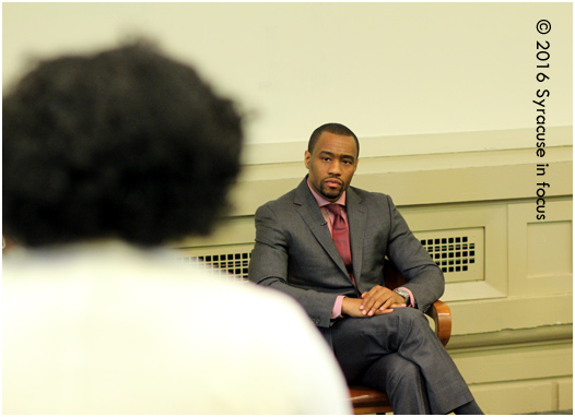 Professor, activist, public intellectual and TV-personality Marc Lamont Hill spent some time talking with students in a question- answer session before his speech for the Dr. Martin Luther King, Jr. Celebration on campus on Sunday.