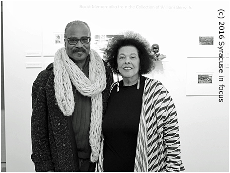 William Berry, Jr. (collector) and Jackie Warren Moore (writer/director) at Art Rage Gallery