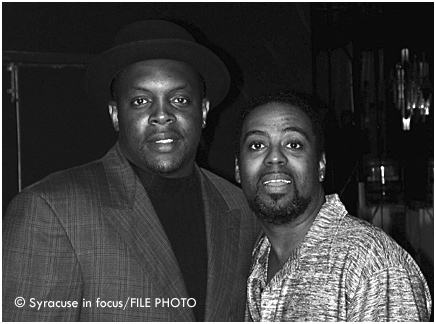 Syracuse promoter Tony Jett and comedian T.P. Hearn at the Hotel Syracuse almost 20 yrs ago.