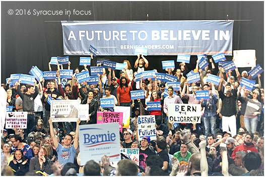 Bernie Sanders rally, OnCenter