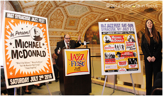 Syracuse Jazz Fest Producer Frank Malfitano announced the lineup for this summer's shows at M+T Bank this morning.