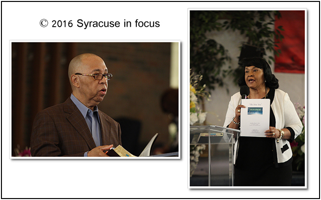 Bishop Reginald McGill and Dr. Cynthia McGill from Rochester visited Syracuse for a conference on Saturday afternoon.