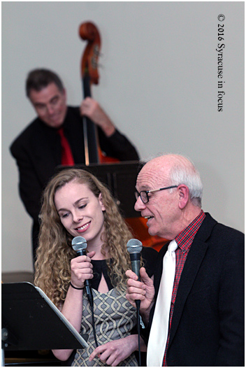 "Guest vocalists Kara Shidemantle and Rev. Shidemantle perform ""What a Wonderful World"" during the Pentacost Jazz Vespers at Pebble  Hill Presbyterian Church on Sunday afternoon."