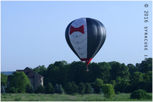The Sirprize Balloon Team comes in for a landing. Balloon Fest continues Saturday and Sunday.