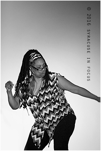 Annette Adams-Brown danced her way on to the stage for her exhibition/scene for The Colored Museum last night. The play was directed by Jackie Warren-Moore.