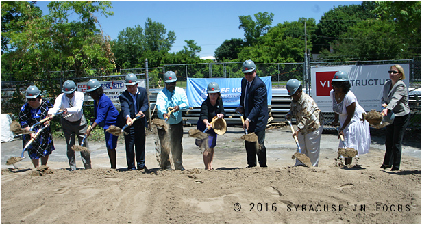 A ground breaking ceremony was held on South Avenue for the planned Price Rite store.