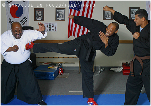 Focusing Our Resources for Community Enlightenment (FORCE) at the dojo of Vincent Grace (circa 2003).