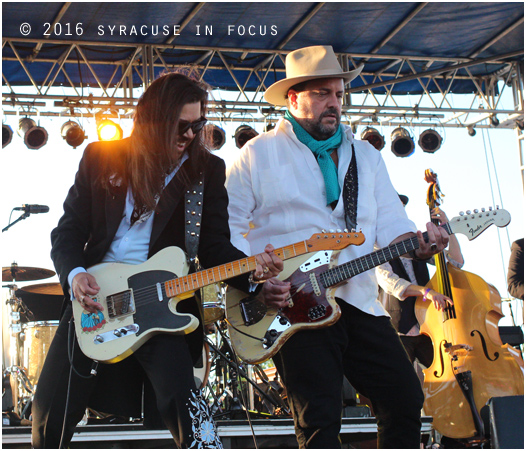 Raul Malo and Eddie Perez from The Mavericks performed at last weekend's 34th Annual Syracuse Jazz Festival.