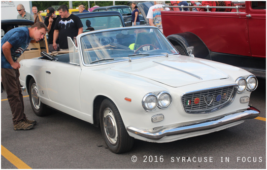 This 1964 Lancia Flavia caught the attention of many admirers at the Holiday Inn last night. This weekend the Syracuse Nationals are in town to celebrate vintage and unique automobiles.