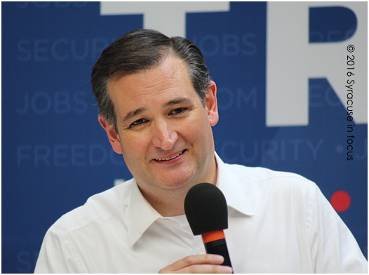 Texas Sen. Ted Cruz spoke in Syracuse during the campaign