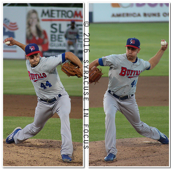 Buffalo pitcher Patrick Michael Venditte showed off his ambidexterity earlier this week as he pitched several shut out innings against the Chiefs.