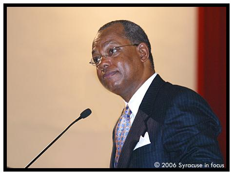 Reverend Dr. Calvin O. Butts, III spoke at Syracuse University in 2006.
