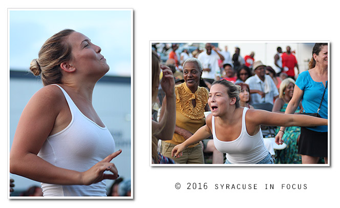 This is what it looks like when your song comes on during a Blacklites concert  (Jazz in the City, Southside)
