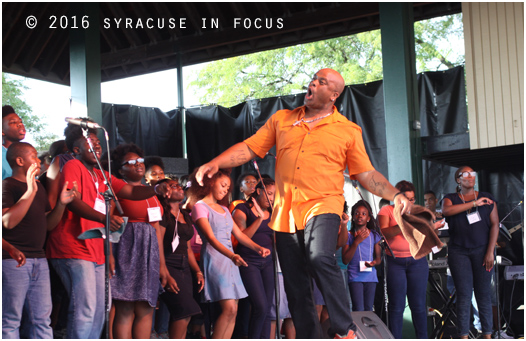 NYS Gospel Choir Director Jason Barnes took things to another level during today's show.