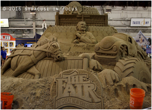 Sand sculpture: In Progress