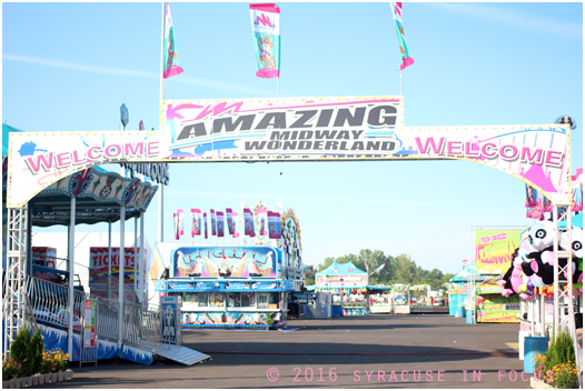One of the many improvements at this year's New York State Fair included doubling the size of the midway (pictured here about 24 hours before Opening Day).