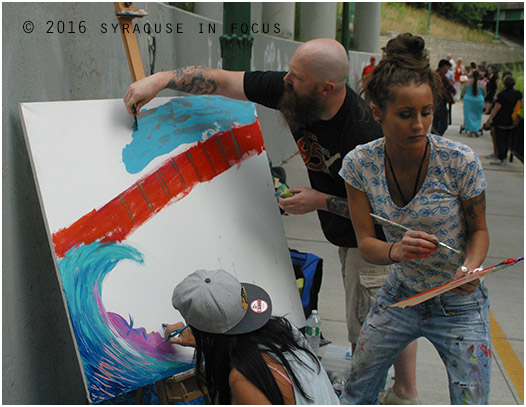 Live Art, Overpass Fest, Creekwalk