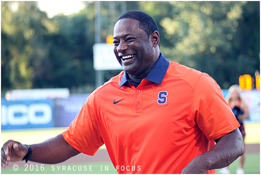 Winning Mood. Congratulations to Coach Babers on his first road win as coach of SU.