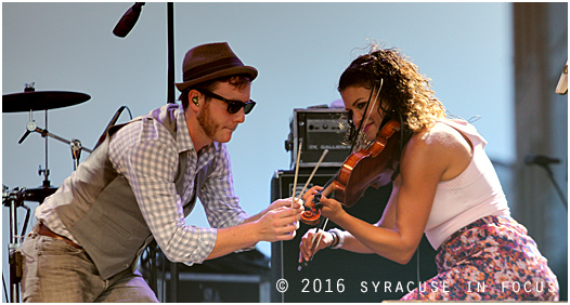 Univ. of Michigan grads and band mates Fritz McGirr and Diana Ladio provided some show stopping fun during the Moxie set at the Syracuse Irish Festival this evening.