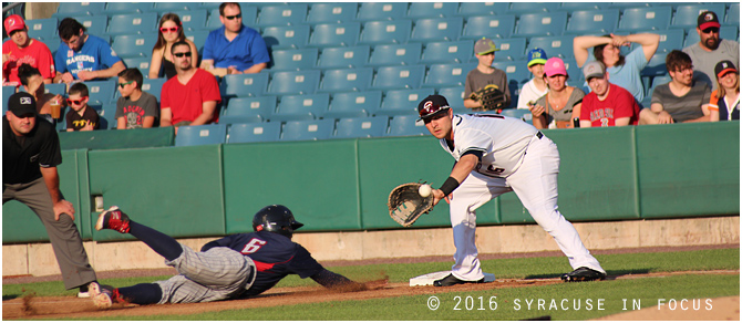 Chiefs infielder Matt Skole was awarded the 2016 Rawlings Sports Gold Glove for his work at 1B this season.
