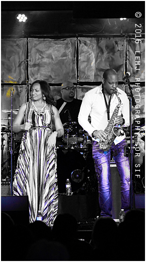 Selina Albright and Jackiem Joyner on stage at <a href=