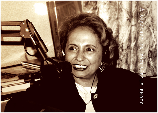 Cathy Hughes was given an honorary degree at Syracuse University in 2001. She appeared on Old School Sunday to talk about her career later that day (WPHR-FM).