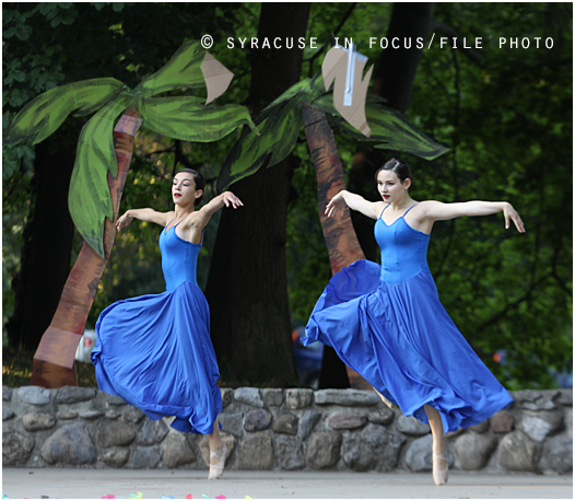 Today is National Ballet Day (pictured: Dancers from the Syracuse City Ballet)