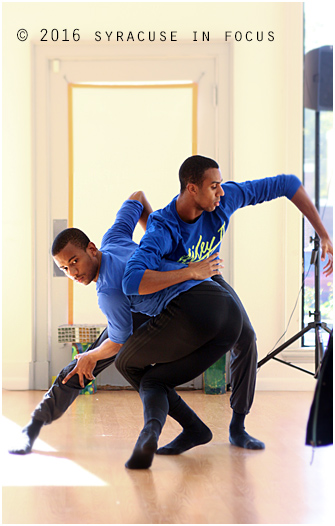 Christopher Wilson and Jacoby Pruitt made a powerful impression as the first dancers in today's demonstration.
