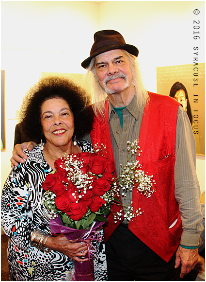 Literary siblings Jackie Warren-Moore and Walt Shepperd at Art Rage Gallery.