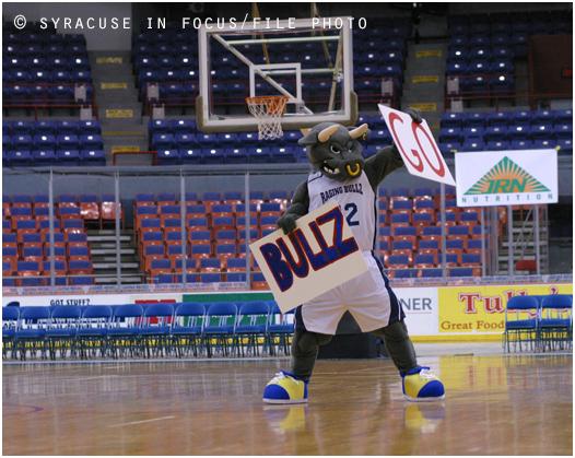 Raging Bullz Mascot (circa 2007)