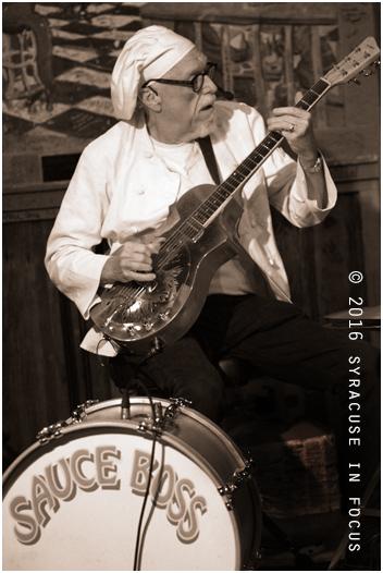 Bill Wharton, aka the Sauce Boss, played his regular December gig at the Dinosaur on Thursday night.